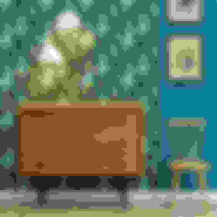 Paredes y suelos de estilo  por LE PRESSE PAPIER / PAPIER PEINT