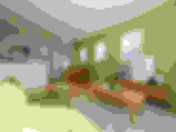Ruang Keluarga by  Live Sumai - アズ・コンストラクション -