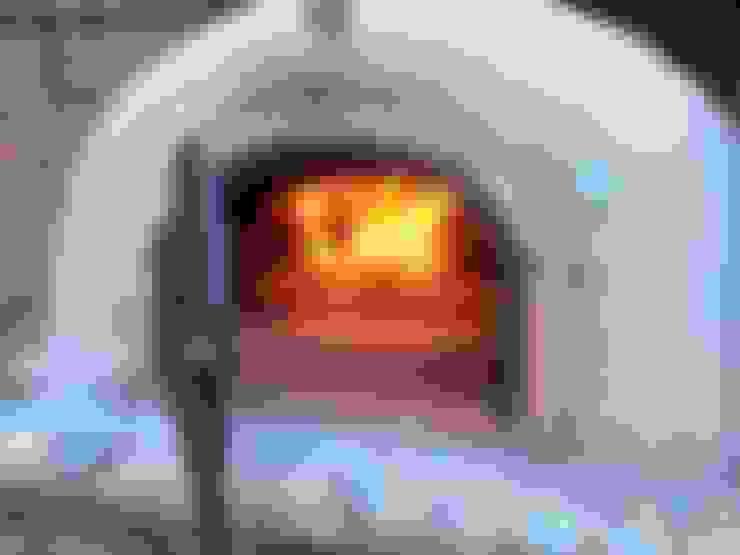 Jardines de estilo  por wood-fired oven
