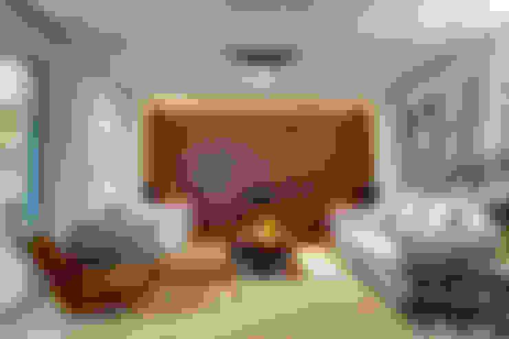 Salas / recibidores de estilo  por Lage Caporali Arquitetas Associadas