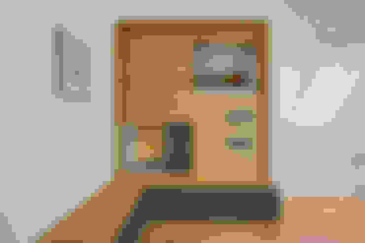 ห้องทำงาน/อ่านหนังสือ by Bau-Fritz GmbH & Co. KG