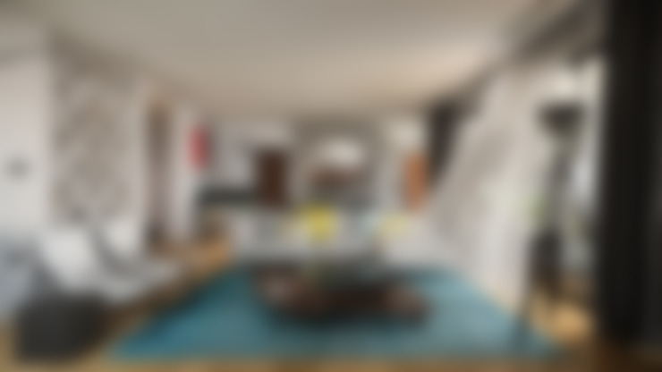 غرفة المعيشة تنفيذ BUUN MOTTO ARCHITECTS