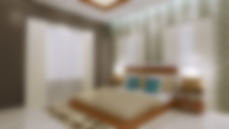غرفة نوم تنفيذ SquareDrive Living Spaces