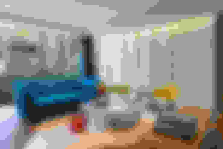 Salas de estilo  por MAAD arquitectura y diseño