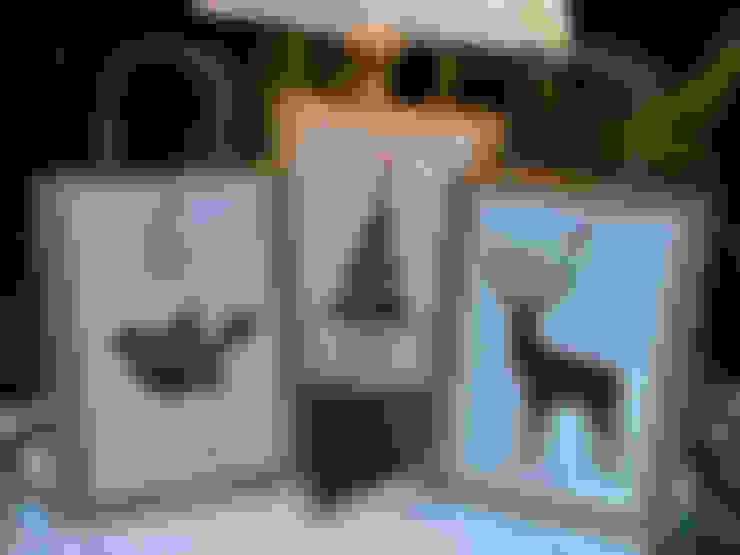 3 WEIHNACHTSTÜTEN | mit drei verschied. Motiven:  Wohnzimmer von Papierwiese