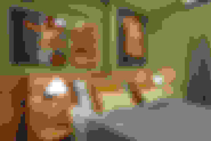 Apartamento pequeno - 43m²: Quartos  por Moreno e Brazileiro   Arquitetos