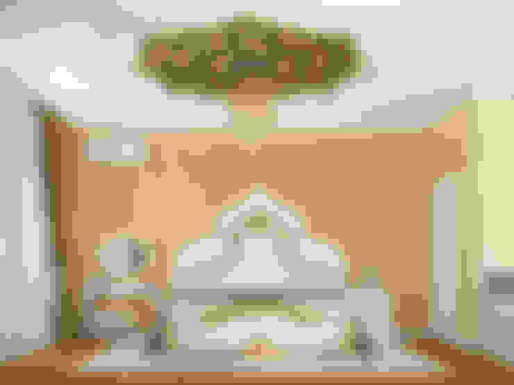 غرفة نوم تنفيذ Tatiana Zaitseva Design Studio