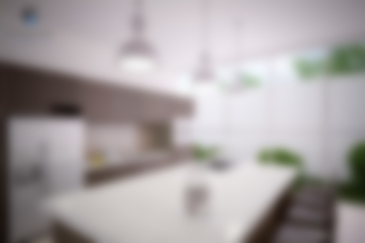 """Proyecto Arquitectónico """" Casa XC03""""       : Cocinas de estilo  por PORTO Arquitectura + Diseño de Interiores"""