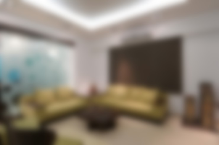 A SHOW APARTMENT:  Living room by Archana Shah & Associates