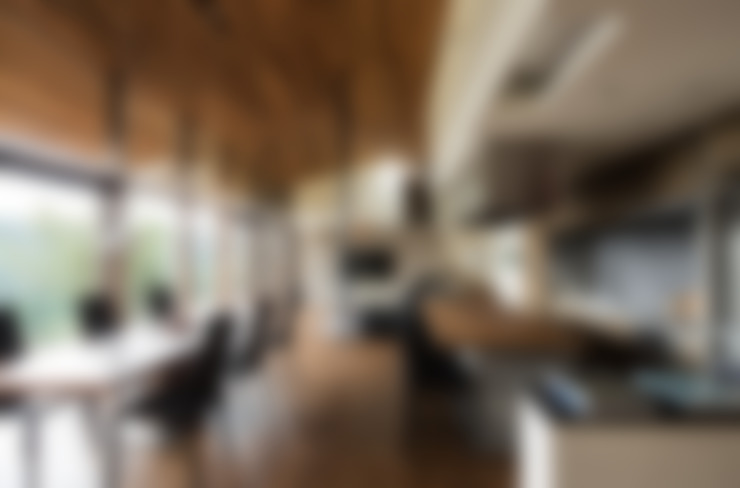 Salas de jantar  por Mimasis Design/ミメイシス デザイン