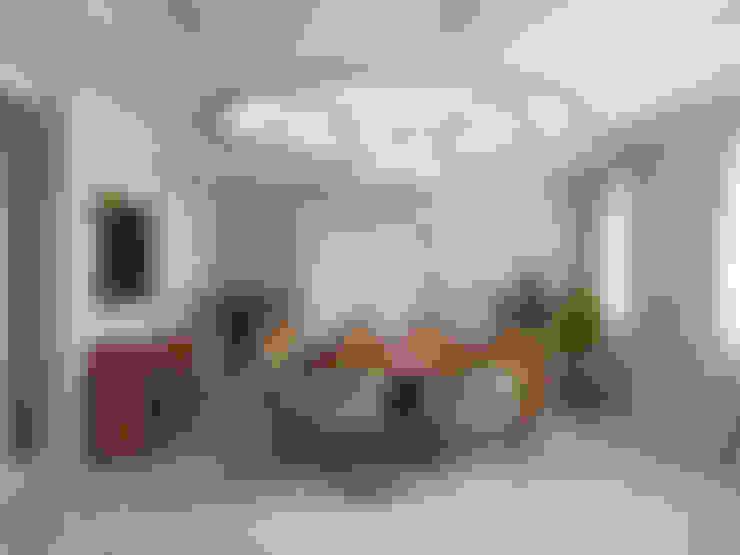 غرفة السفرة تنفيذ СТУДИЯ ДИЗАЙНА ЭЛИТНЫХ ИНТЕРЬЕРОВ АЛЕКСАНДРА ЕЛАШИНА.