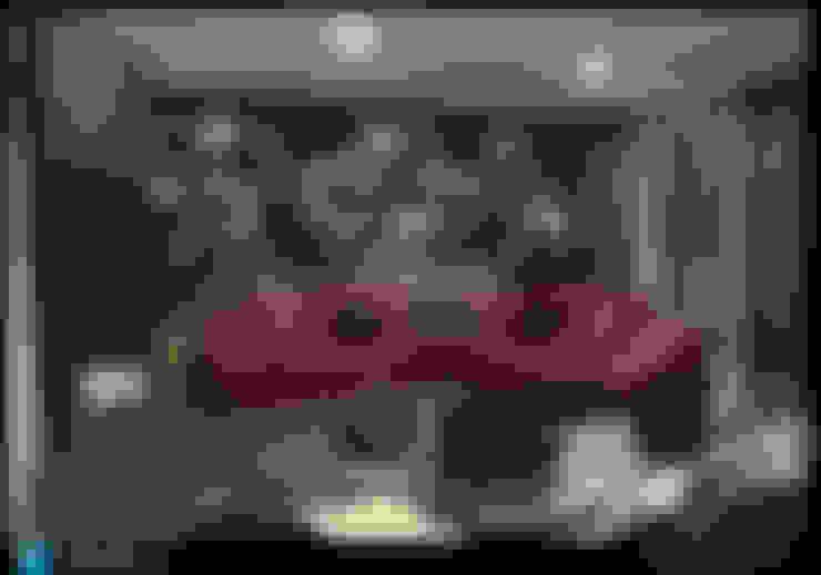 sala de estar: Salas multimedia de estilo  por Excelencia en Diseño