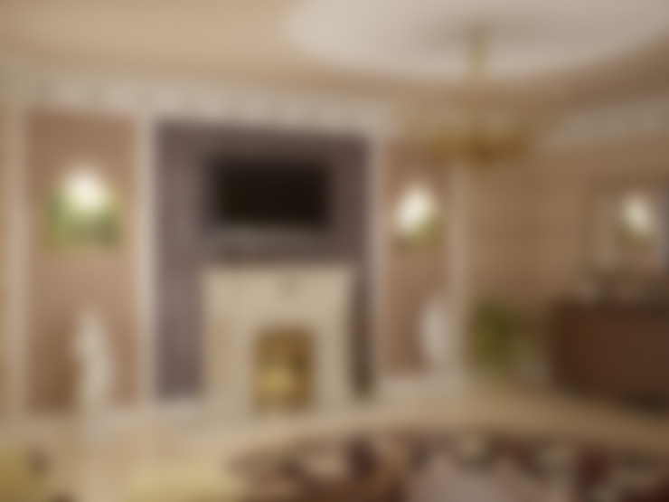 НА ЯЧЕНСКОМ ВОДОХРАНИЛИЩЕ  : Гостиная в . Автор – СТУДИЯ ДИЗАЙНА ЭЛИТНЫХ ИНТЕРЬЕРОВ АЛЕКСАНДРА ЕЛАШИНА.