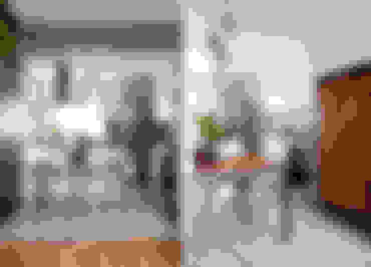 Apartamento da Cláudia e do Daniel: Salas de jantar  por INÁ Arquitetura
