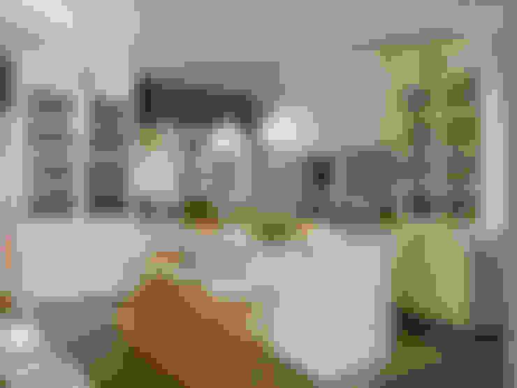 Áreas de cocción, de preparación, de desayuno y de lavado: Cocinas de estilo  de DEULONDER arquitectura domestica