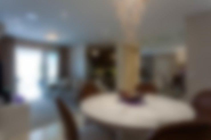 Dining room تنفيذ Martins Valente Arquitetura e Interiores