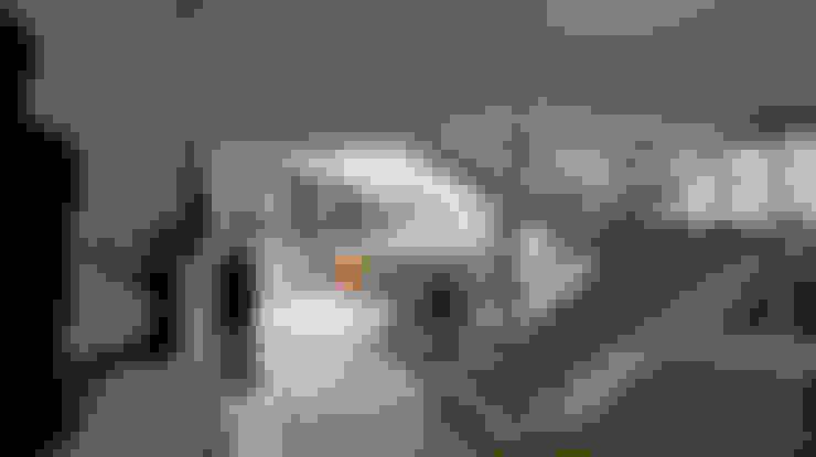 Couloir et hall d'entrée de style  par OMAR SEIJAS, ARQUITECTO