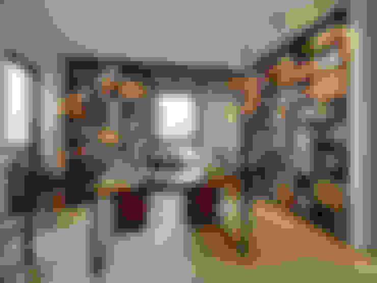 Penthouse:  Arbeitszimmer von HONEYandSPICE innenarchitektur + design