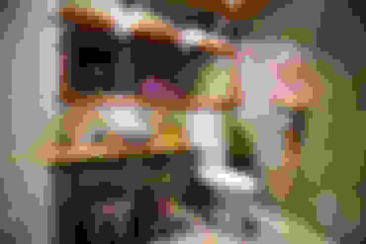 프렌치모던, 취향 저격의 40평 신혼집 인테리어: 로하디자인의  욕실