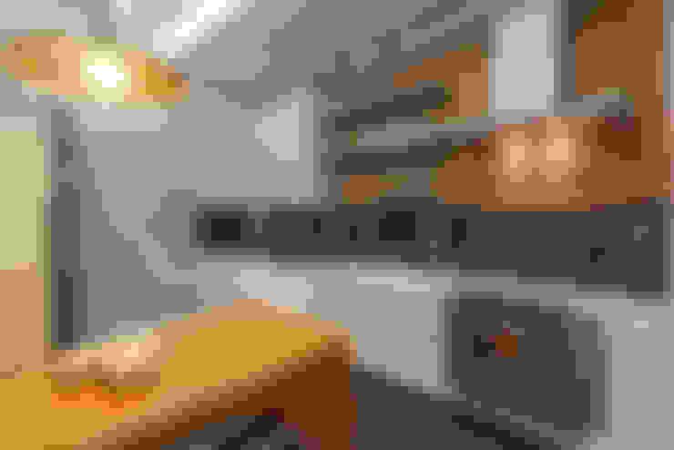Apartamento Jovem Casal: Cozinhas  por Laura Santos Design