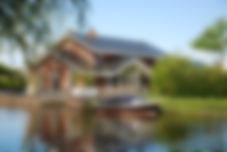 Voor- en zijaanzicht Zwettehof:  Huizen door Kat Koree Architecten
