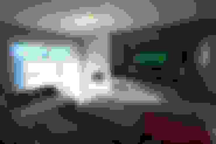 Salas multimedias de estilo  por Patrícia Azoni Arquitetura + Arte & Design