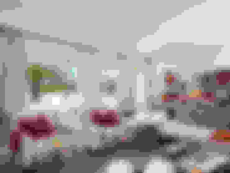 غرفة المعيشة تنفيذ SA&V - SAARANHA&VASCONCELOS