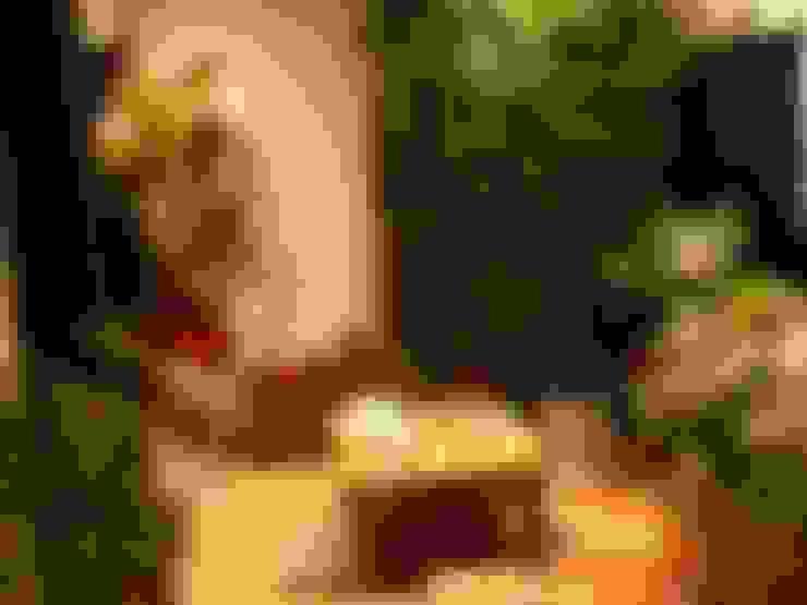 Ambiente Bali- Mostra Mesas Decoradas BiaDecor : Jardins  por Eneida Lima Paisagismo