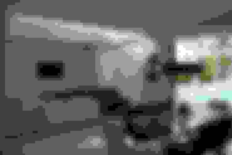 Area salon comedor.: Casas de estilo  por Camilo Pulido Arquitectos
