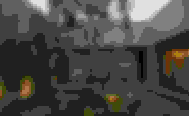 Casa IQ: Jardines de estilo  por AMR ARQUITECTOS