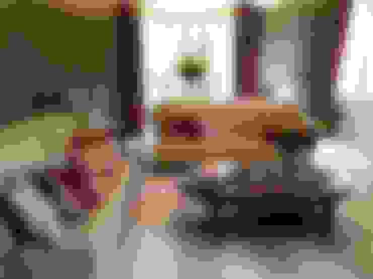 غرفة المعيشة تنفيذ Ziboh Interiors