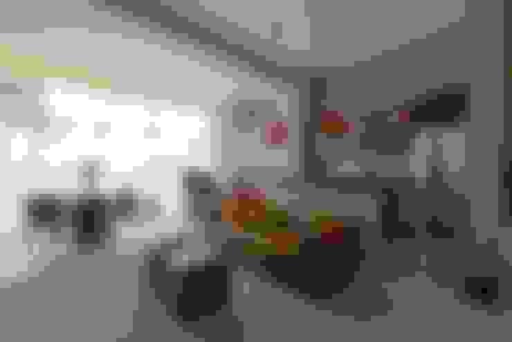 Loft Brooklin: Salas de estar  por Samaia Arquitetura+Design