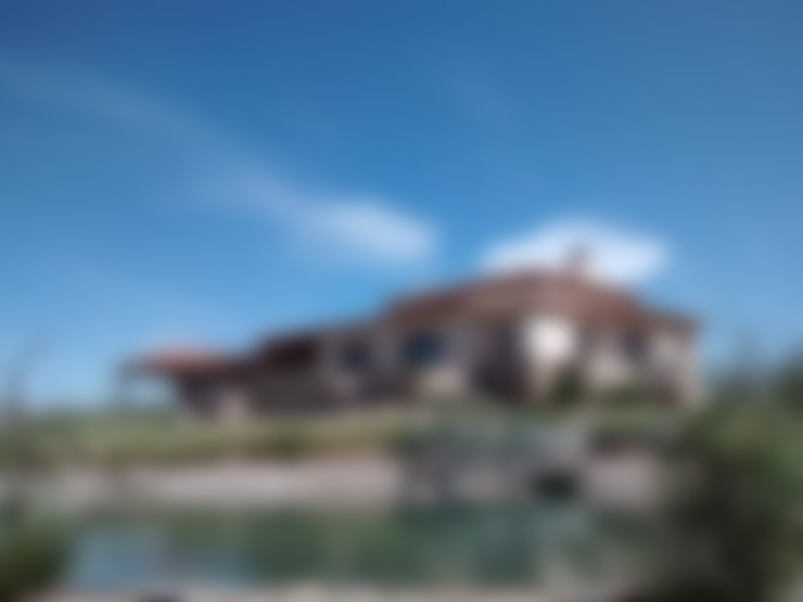 Vista sureste: Casas de estilo  por Azcona Vega Arquitectos