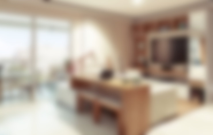 غرفة المعيشة تنفيذ Alessandra Duque Arquitetura & Interiores