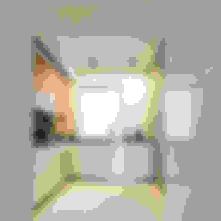 Projekt wnętrz mieszkania w budynku wielorodzinnym: styl , w kategorii Kuchnia zaprojektowany przez AP2 Architekci