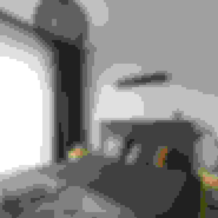 Projekt wnętrz mieszkania w budynku wielorodzinnym: styl , w kategorii Sypialnia zaprojektowany przez AP2 Architekci