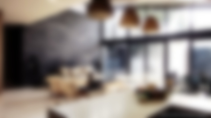 Cocina y sala: Cocinas de estilo  por Diez y Nueve Grados Arquitectos