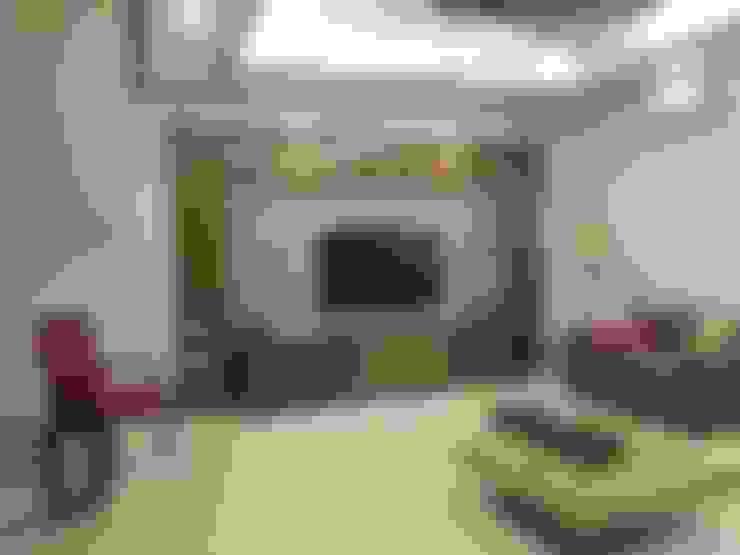 Living TV unit - After:   by Uncut Design Lab