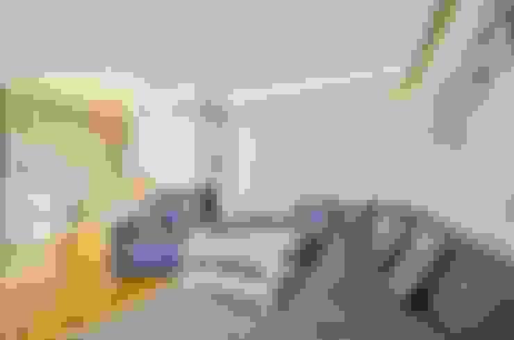 غرفة المعيشة تنفيذ Biuro Projektów MTM Styl - domywstylu.pl