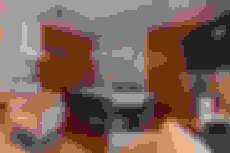 Apartamento Mnl: Salas de jantar  por Lozí - Projeto e Obra