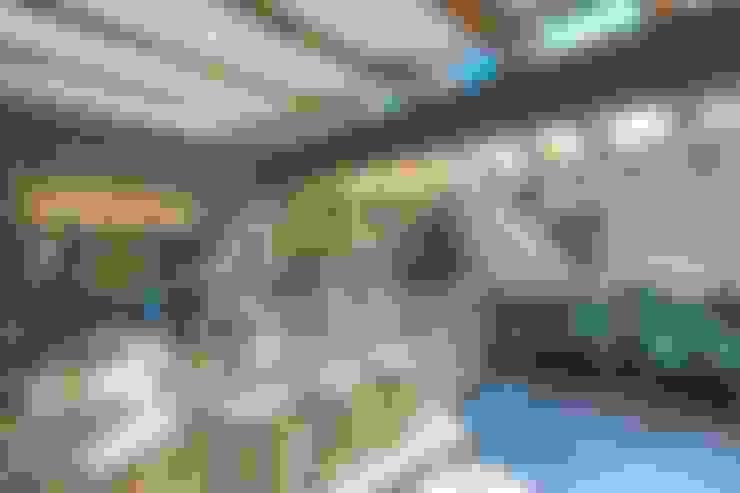Terrasse de style  par HDA: ARQUITECTURA BIOCLIMATICA