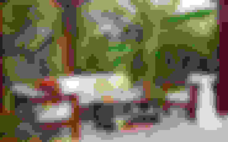 OUTDOOR LIVING :  Balconies, verandas & terraces  by DG DESIGNER LANDSCAPES  LLP