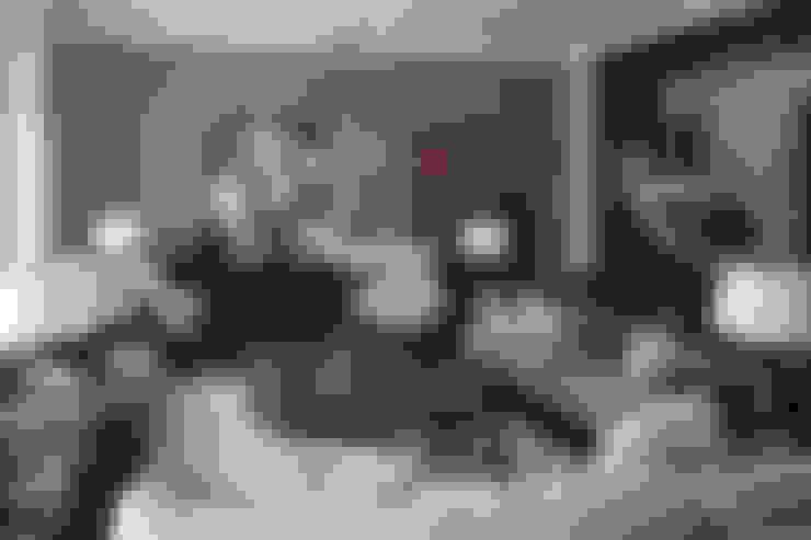 غرفة المعيشة تنفيذ Архитектурное бюро Бахарев и Партнеры