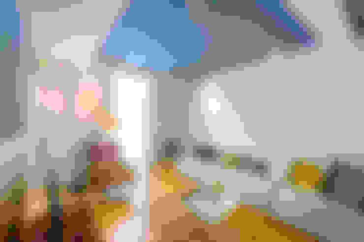 Salas / recibidores de estilo  por Espaço Mínimo