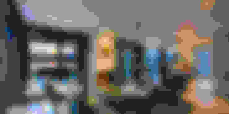 غرفة المعيشة تنفيذ DENOLDERVLEUGELS Architects & Associates
