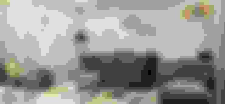 غرفة المعيشة تنفيذ Lena Lobiv Interior Design