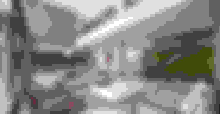 غرفة المعيشة تنفيذ Martins Lucena Arquitetos
