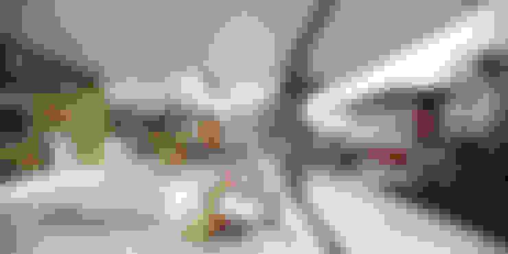 Casa C: Salas de estar  por Martins Lucena Arquitetos
