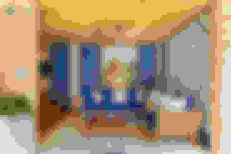 Forro com esteira trançada de Bambu: Salas de estar  por BAMBU CARBONO ZERO