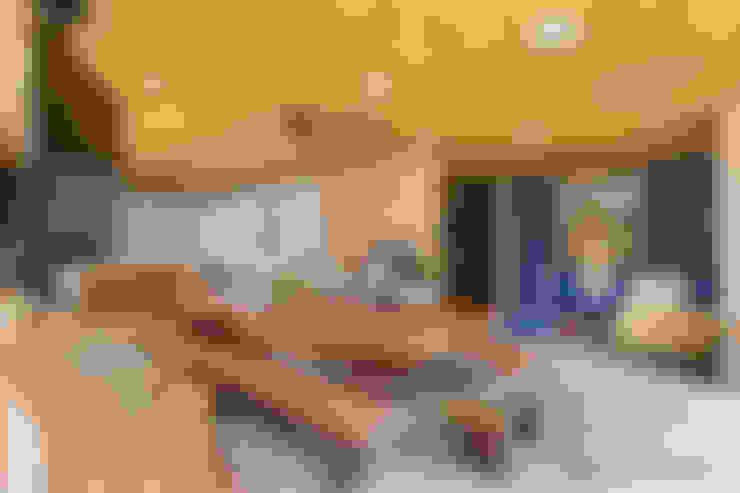 Forro com esteira trançada de Bambu: Cozinhas  por BAMBU CARBONO ZERO